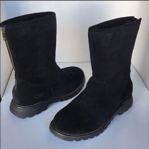 🎁New Ugg Black Langley Suede short boots sz 7